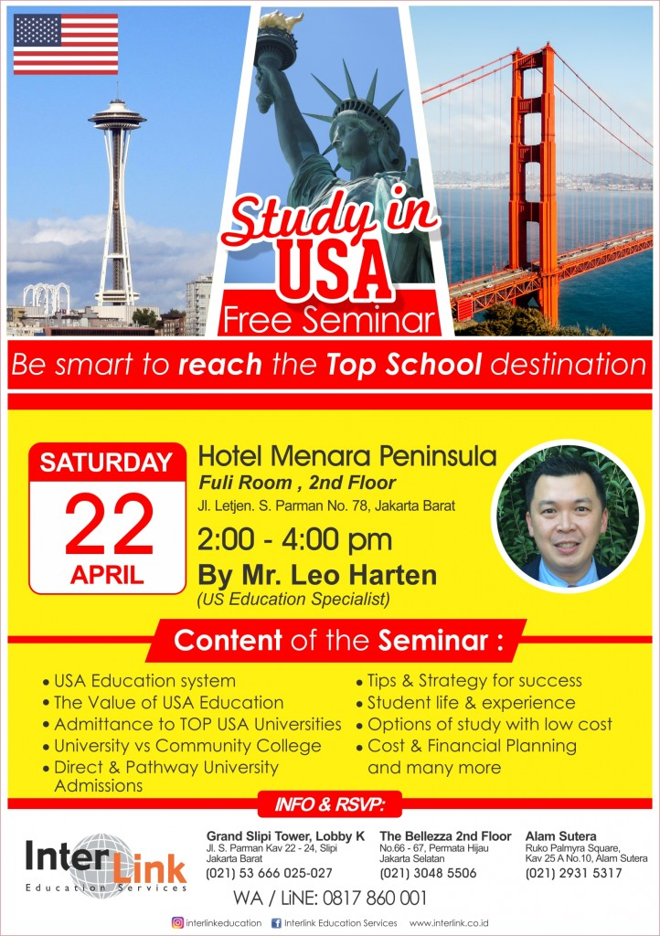 Study in USA Seminar April 2017 Yellow