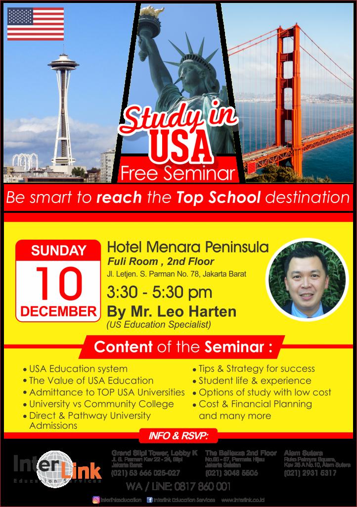 Study in USA Seminar 10 Dec 2017 InterLink