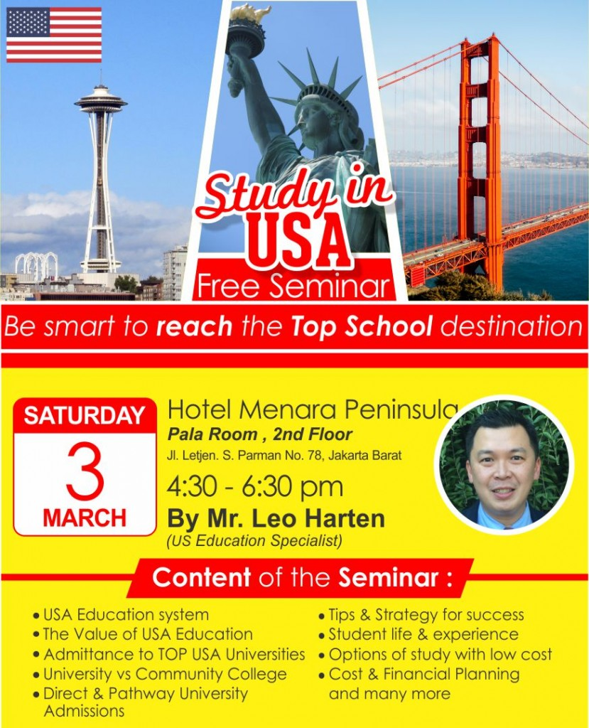Study in the USA Seminar March 2018 IG